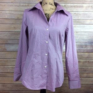 New York & Company Medium Purple Button Down Shirt